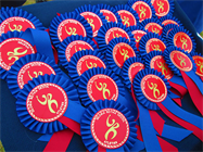 ATHLETICS DAY ROSETTES